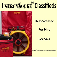 EnergyScore Classifieds; Energy Auditing Jobs and used energy auditing equipment